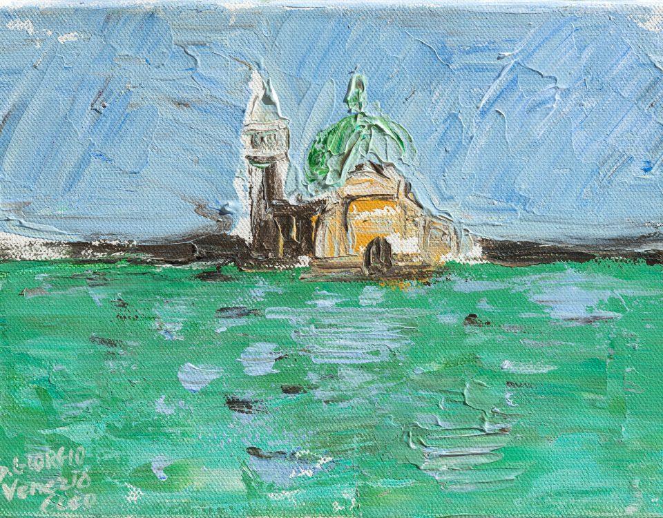 Venezia, temporale a S.Giorgio