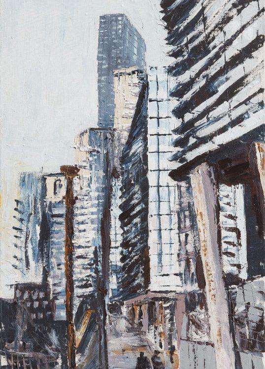 Milano via dei grattacieli