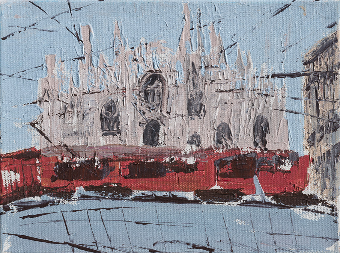 Milano, tramvai e Cattedrale