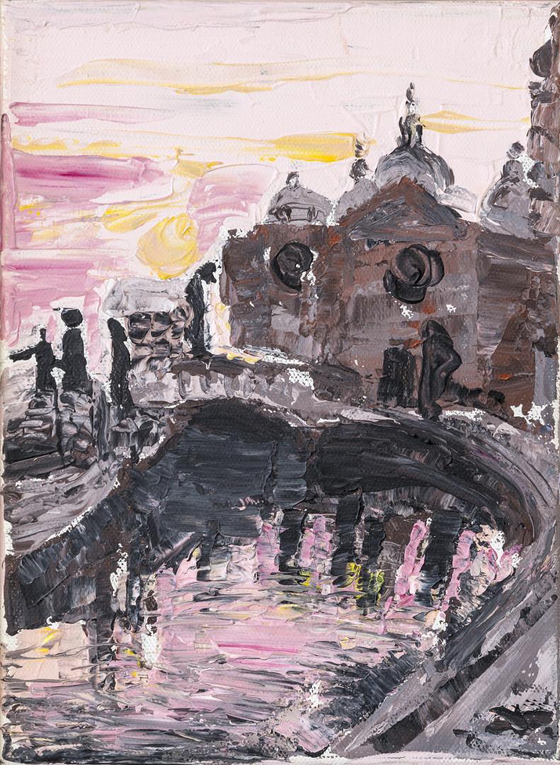 Padova, alba in Prato della Valle
