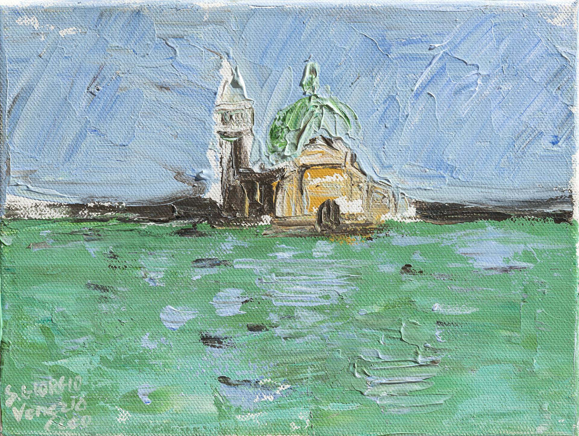 Venezia, temporale a San Giorgio