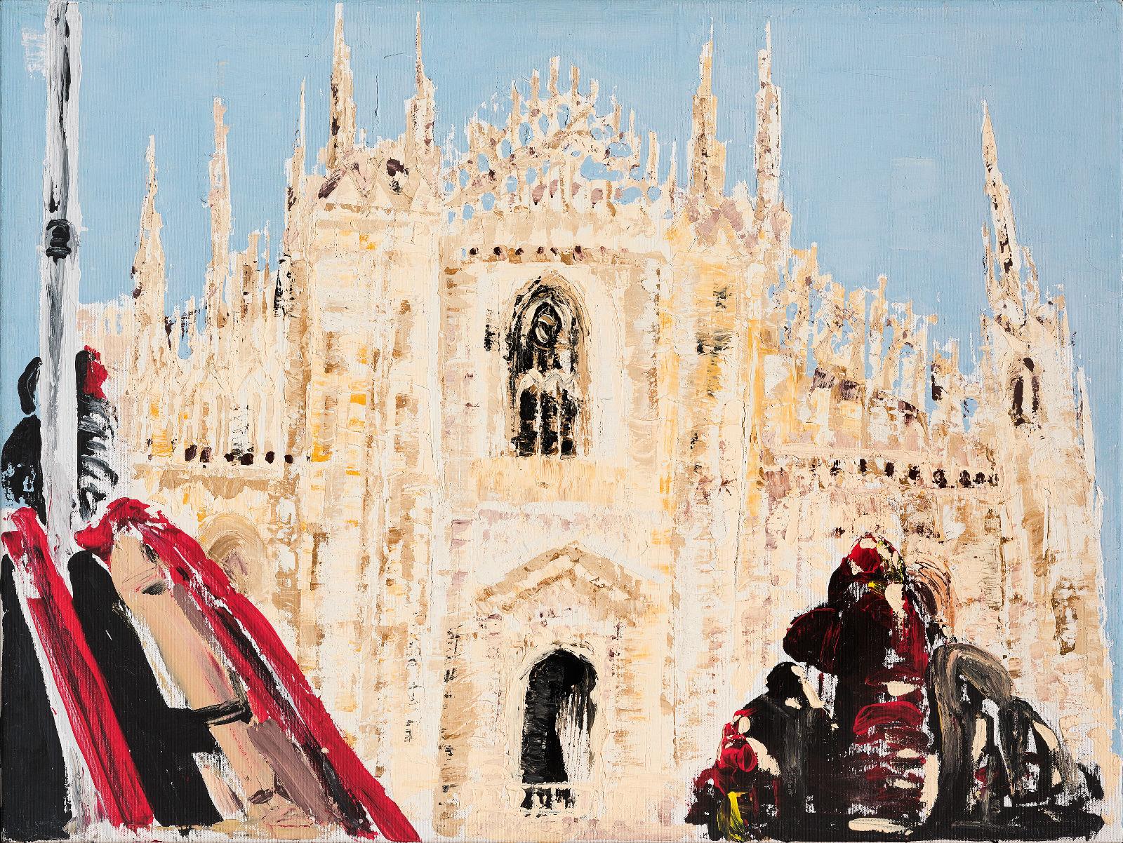 Milano, alba in Cattedrale