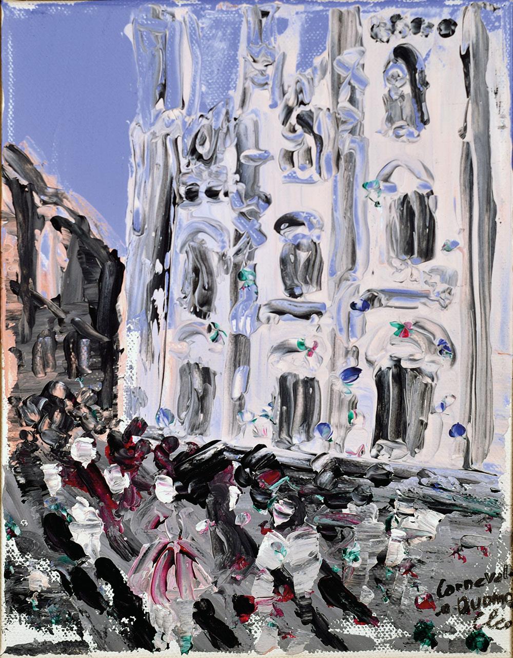 CARNEVALE A MILANO - acrilico su tela 18x24 2010