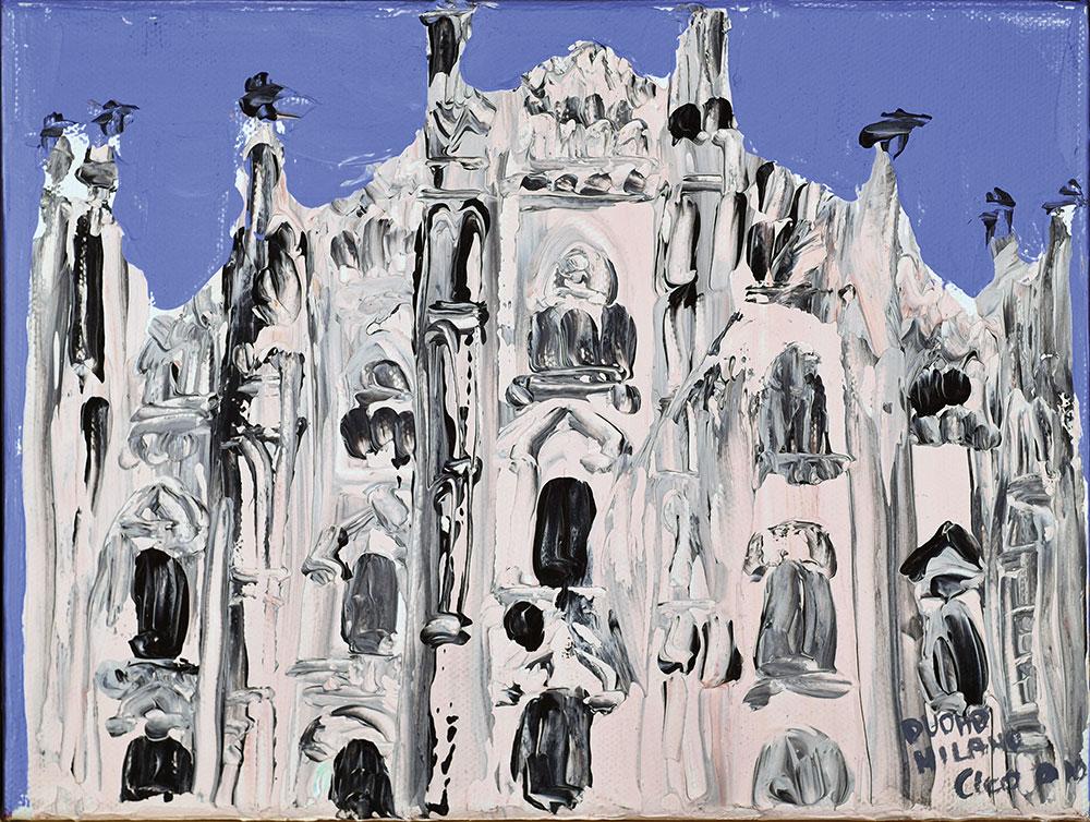 MILANO CATTEDRALE - acrilico su tela 24x18 2010